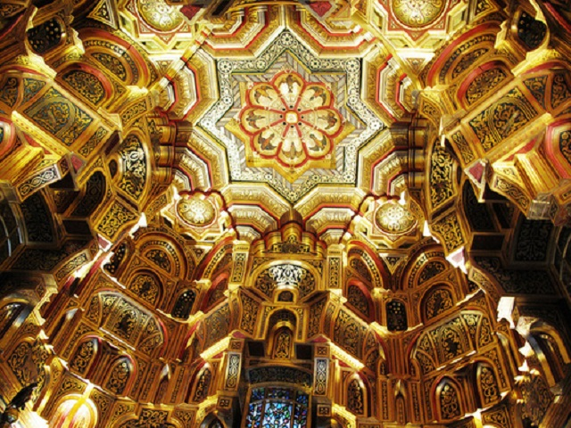 Cardiff Castle - Arab room ceiling