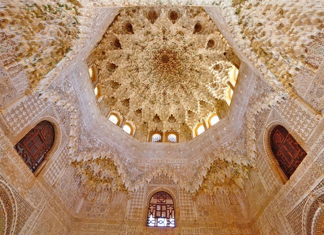 Hall of the Two Sisters at Alhambra in Spain