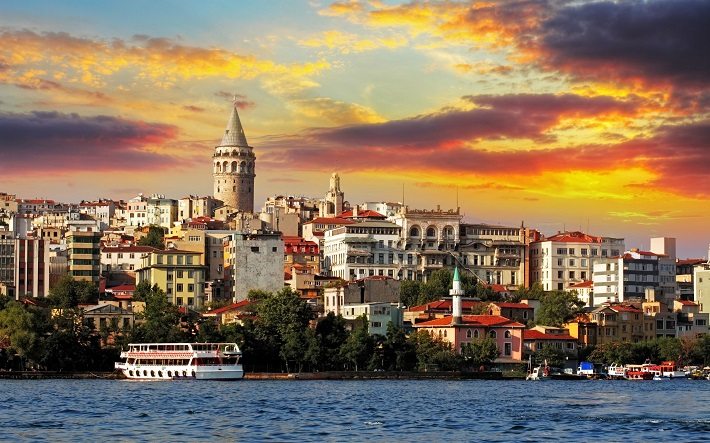 Istanbul Sunset Landscape