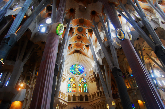 La Sagrada Família Church in Barcelona, Spain