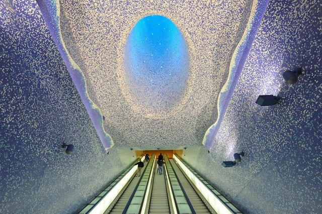 Metro station in Naples, Italy