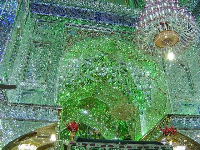 Mirror Work Inside Shah Cheragh Mosque (Shiraz, Iran)