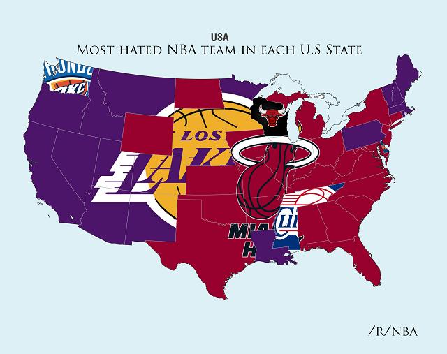 NBA Hate Maps