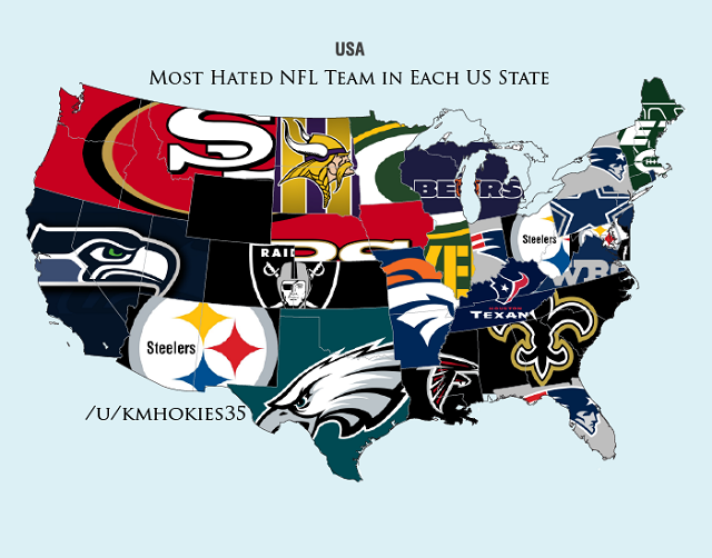 NFL Hate Maps