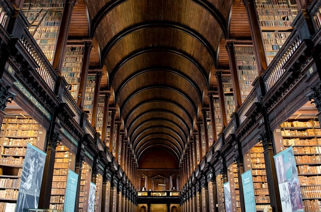 Trinity College Library in Ireland