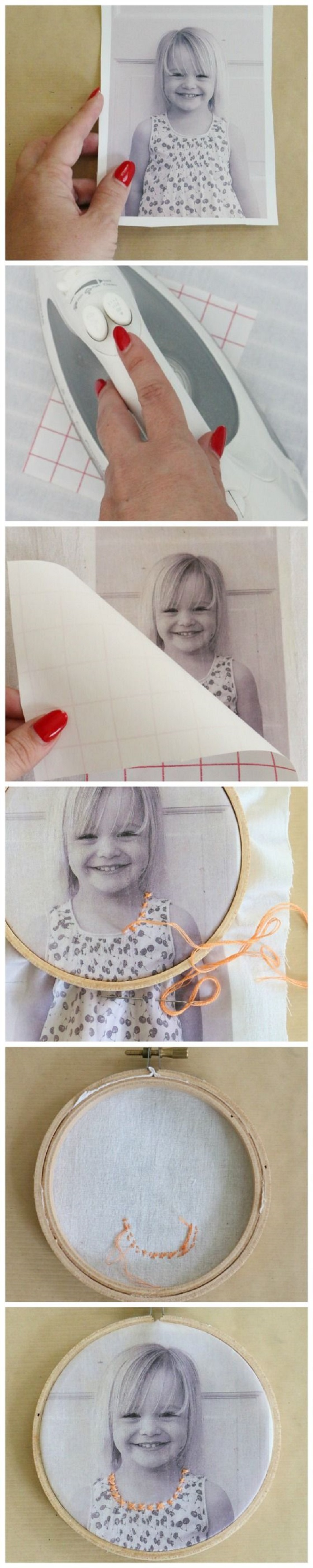 Embroidered Photo Family Portraits