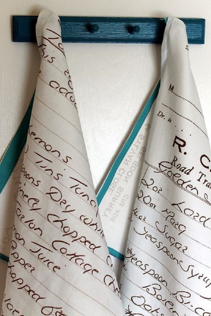 Recipes into Tea Towels
