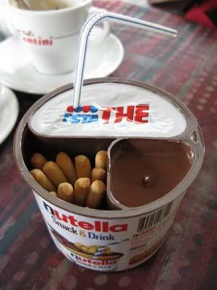 Snack and drink for Nutella lovers