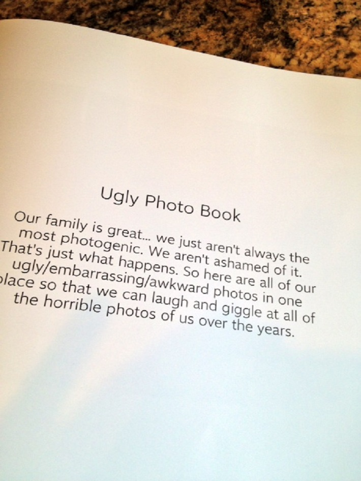 Ugly Photo Book