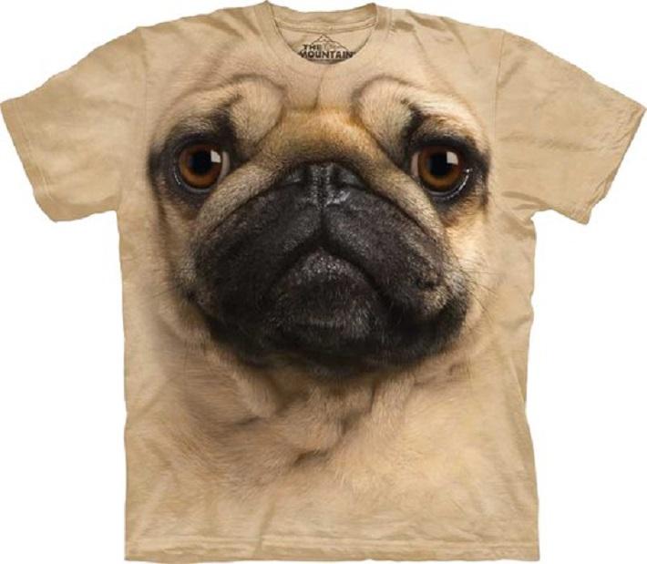 3D Pug Face T-shirt
